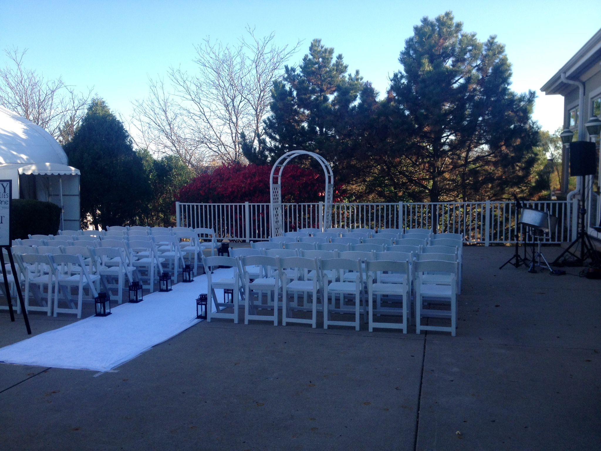 Outdoor Wedding In October