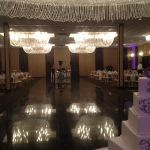 Beautiful ballroom at the Chateau Ritz in Niles, IL