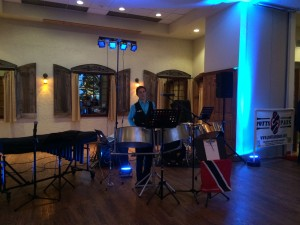 Matt Potts Solo Steelpan With Up Lights At Onion Pub